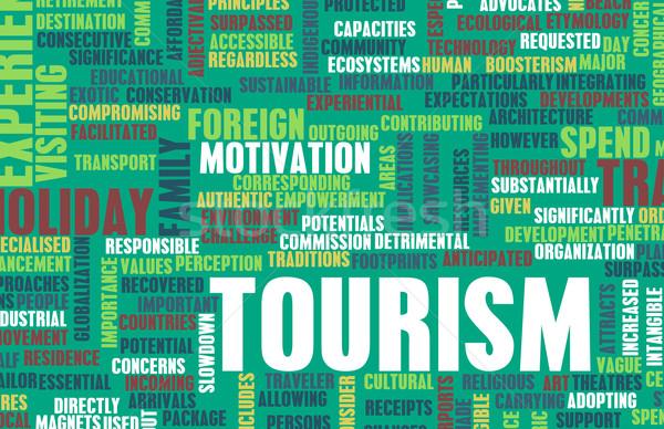 Toerisme industrie toeristische buitenlands vakantie vakantie Stockfoto © kentoh