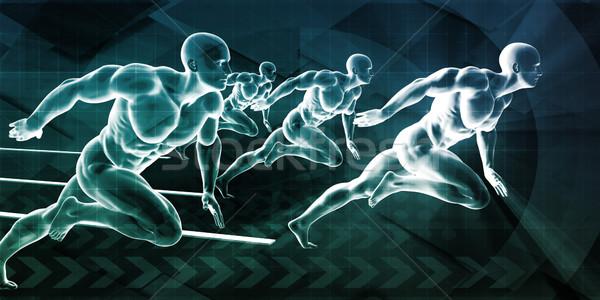 Running Business Men Stock photo © kentoh