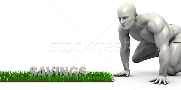 Сток-фото: экономия · человека · глядя · продовольствие · зеленый · азиатских