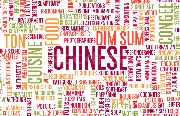 Chinese Food Menu Stock photo © kentoh
