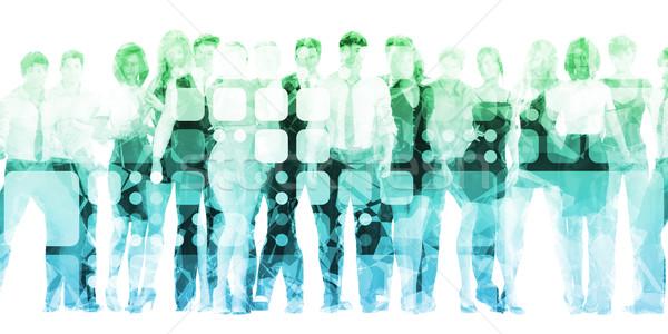 Online oktatás elektronikus tanul képzés megbeszélés oktatás Stock fotó © kentoh