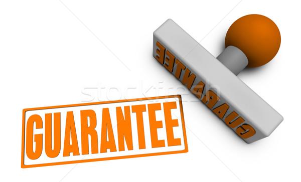 Garancia bélyeg kotlett papír 3D ötlet Stock fotó © kentoh