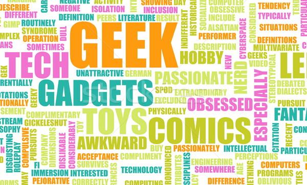 Geek kultury przemysłu film zabawki funny Zdjęcia stock © kentoh