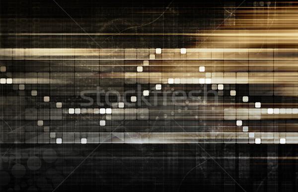 Mercado de ações análise tendências futuro digital informação Foto stock © kentoh