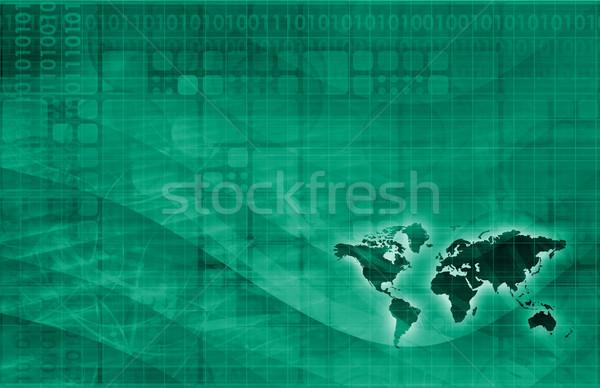 Strategia marketingowa światowy dotrzeć podpisania sieci finansów Zdjęcia stock © kentoh