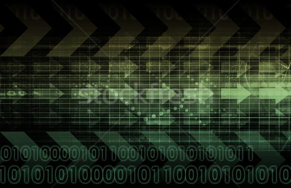 デジタル 信号 技術 抽象的な パターン 芸術 ストックフォト © kentoh