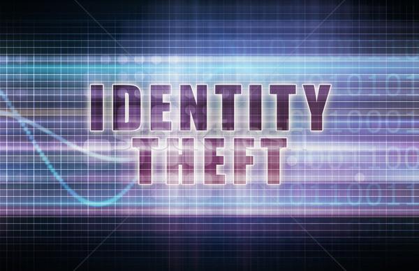 Személyazonosság-lopás tech üzlet diagram művészet absztrakt Stock fotó © kentoh