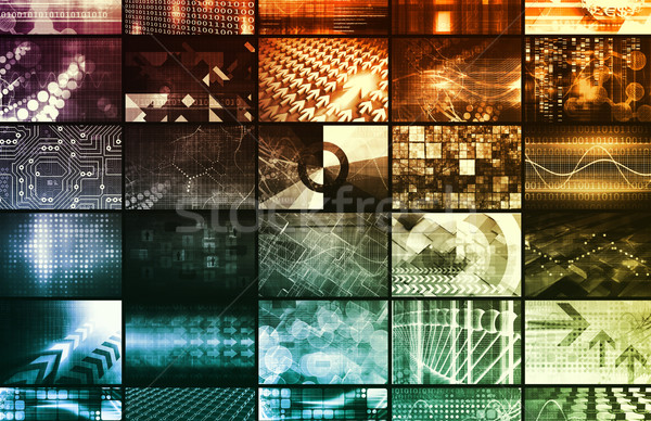 Biologia moderno medici tecnologia abstract sfondo Foto d'archivio © kentoh