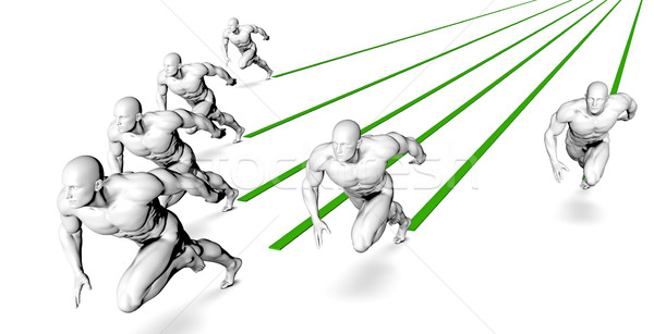 を実行して マラソン レース スポーツ クロス フィットネス ストックフォト © kentoh