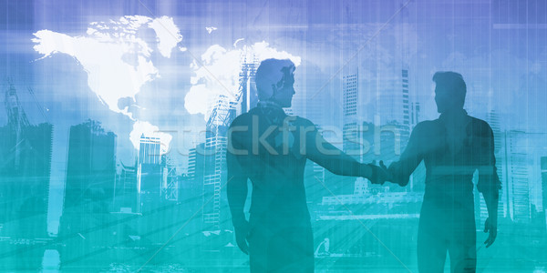 Sales Meeting Stock photo © kentoh