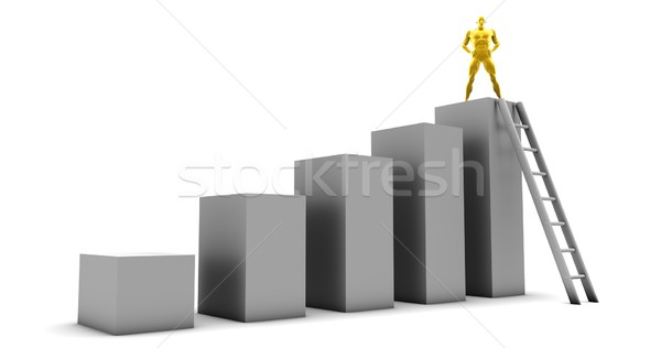 Pessoal alvo sucesso empresário trabalhador Foto stock © kentoh