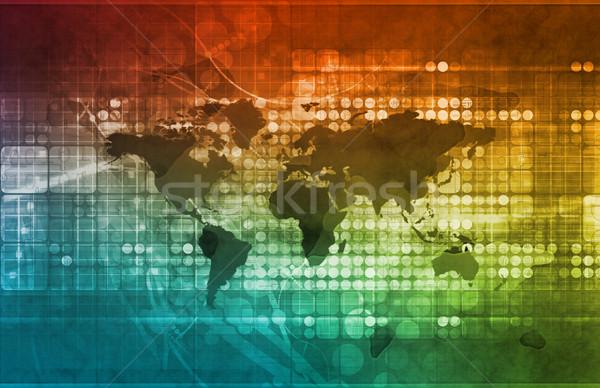 Investimento opportunità business globale scala finanziare Foto d'archivio © kentoh