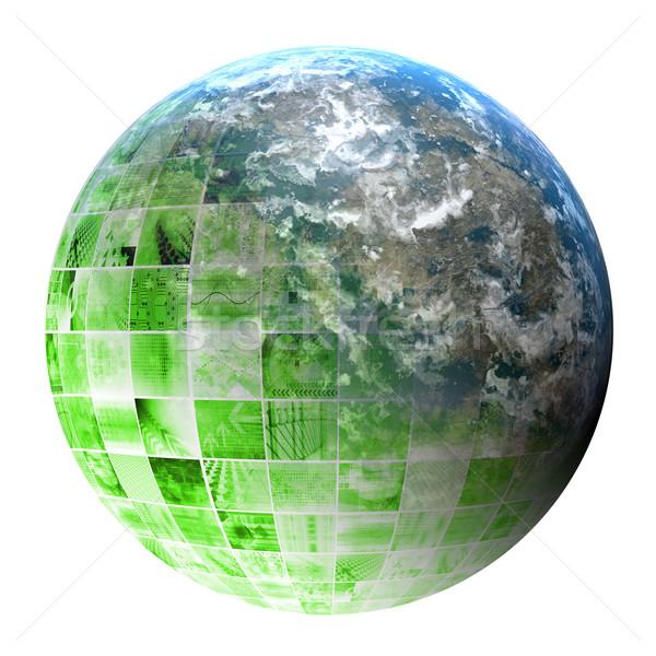 Pesquisa científica futurista tecnologia abstrato internet mundo Foto stock © kentoh