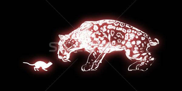 Determinazione cat tigre arte lavoro abstract Foto d'archivio © kentoh
