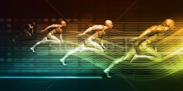 Entegre çözümler yüksek performans hızlandırmak arka plan Stok fotoğraf © kentoh