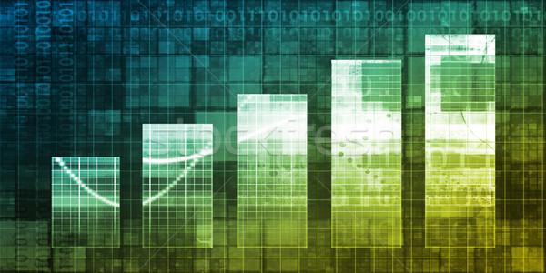 Graphique à barres technologie résumé présentation fond bar Photo stock © kentoh