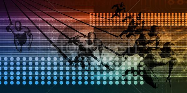 Integráció adat vándorlás technológia háttér hálózat Stock fotó © kentoh