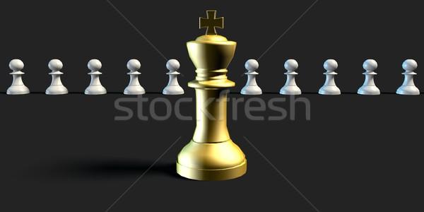 Tökéletes állás jelölt üzlet sakk művészet Stock fotó © kentoh