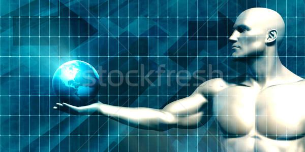 Segurança rede grade observação negócio modelo Foto stock © kentoh