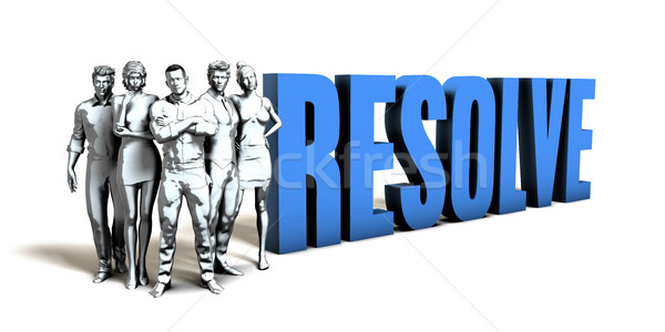 Resolve Business Concept Stock photo © kentoh
