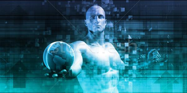 Veiligheid netwerk gegevensbescherming infrastructuur internet abstract Stockfoto © kentoh