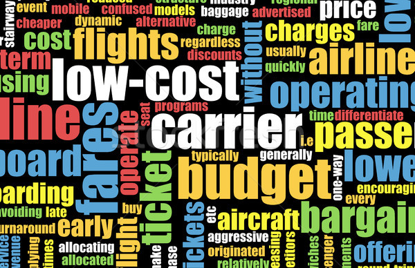 Olcsó költségvetés légitársaság művészet üzlet absztrakt Stock fotó © kentoh