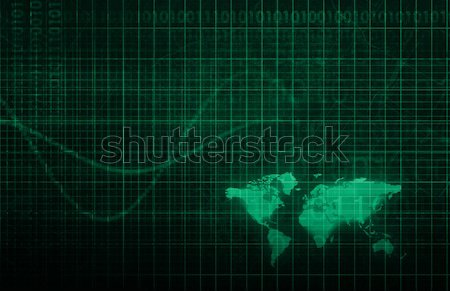 Technologie infrastructuur abstract kunst achtergrond veiligheid Stockfoto © kentoh