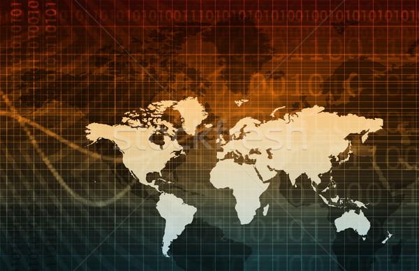 Digital economía resumen negocios tecnología fondo Foto stock © kentoh
