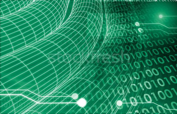 Rede observação segurança negócio abstrato tecnologia Foto stock © kentoh