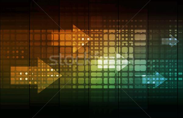 Biztonság hálózat adat monitor üzlet háló Stock fotó © kentoh