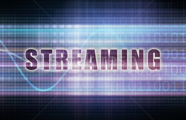 Streaming tech business grafiek kunst achtergrond Stockfoto © kentoh