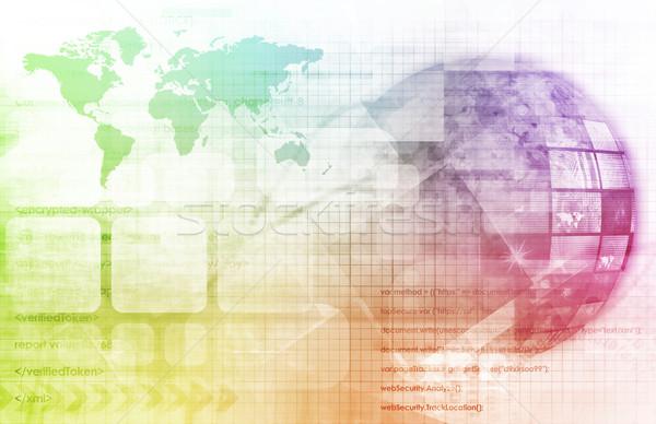 デジタル 世界中 マルチメディア インターネット 背景 ネットワーク ストックフォト © kentoh