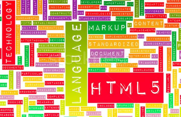 Html internetowych rozwoju język sieci tech Zdjęcia stock © kentoh