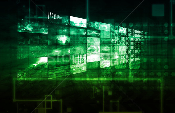 Cms technologii komputera tle sieci usługi Zdjęcia stock © kentoh