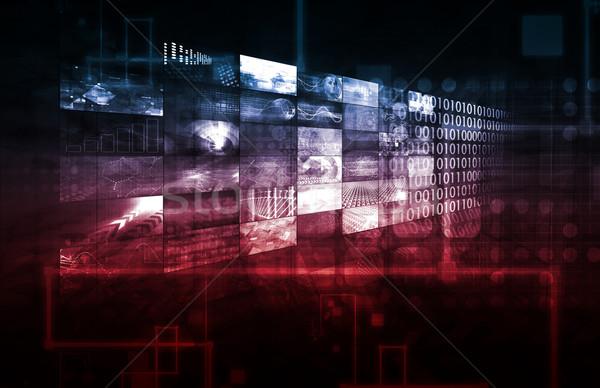 Tecnologia infra-estrutura abstrato arte fundo segurança Foto stock © kentoh