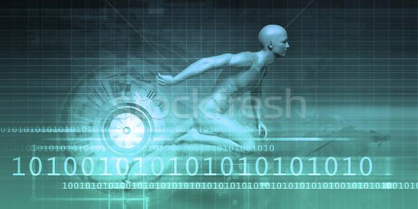 Binary Technology Stream Stock photo © kentoh