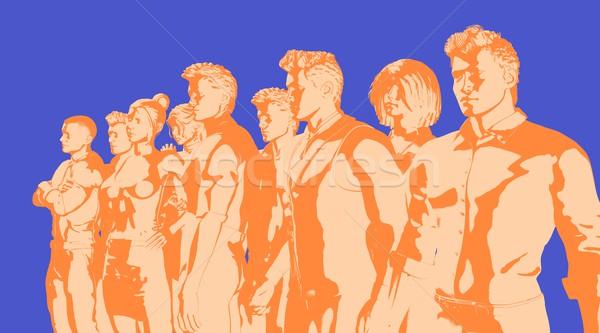 üzleti stratégia analitika megoldások üzlet állás marketing Stock fotó © kentoh