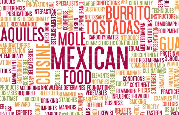 мексиканская кухня меню кухня местный блюд продовольствие Сток-фото © kentoh