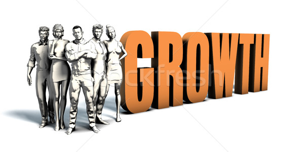 Geschäftsleute Wachstum Kunst Team Scharfeinstellung Frauen Stock foto © kentoh