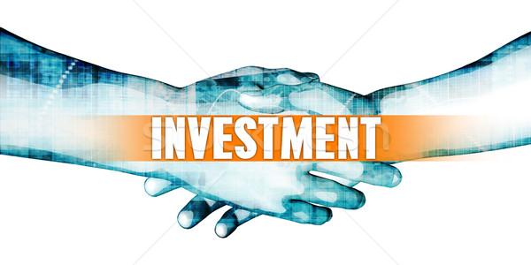 Inversión empresarios apretón de manos blanco manos fondo Foto stock © kentoh