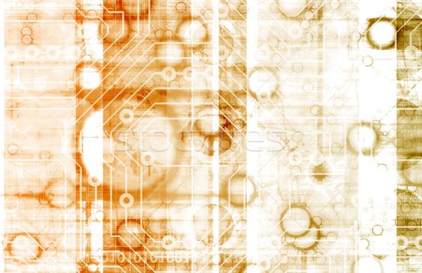 Bilgi teknolojisi iş soyut teknoloji güvenlik ağ Stok fotoğraf © kentoh