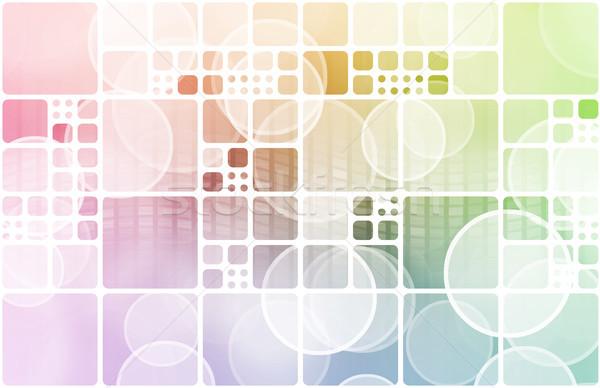 B2b business computer ontwerp technologie achtergrond Stockfoto © kentoh