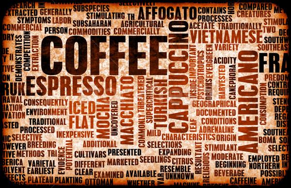 コーヒー 異なる バー ドリンク 手紙 黒 ストックフォト © kentoh