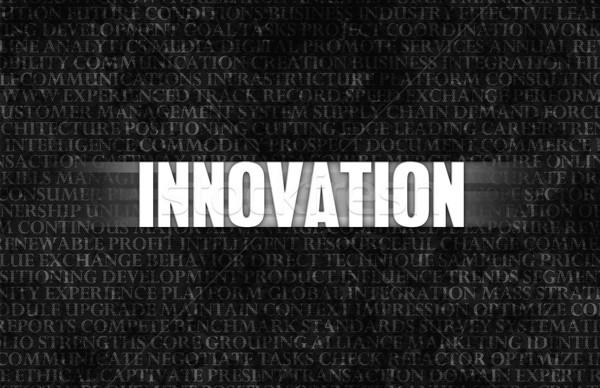 Innováció üzlet motiváció kőfal fal doboz Stock fotó © kentoh