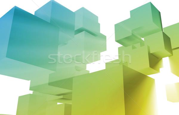 Dados mineração 3D mundial global homem Foto stock © kentoh