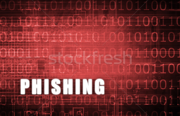 Phishing digital binário aviso abstrato computador Foto stock © kentoh