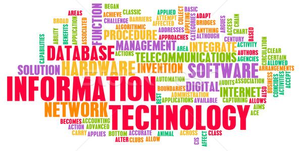 Tecnologia da informação carreira indústria internet abstrato tecnologia Foto stock © kentoh