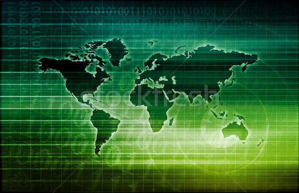 Technologie schone eenvoudige lijnen ontwerp web Stockfoto © kentoh