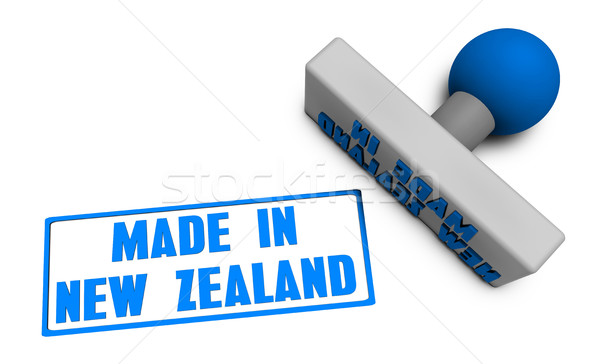 Made in New Zealand Stamp Stock photo © kentoh