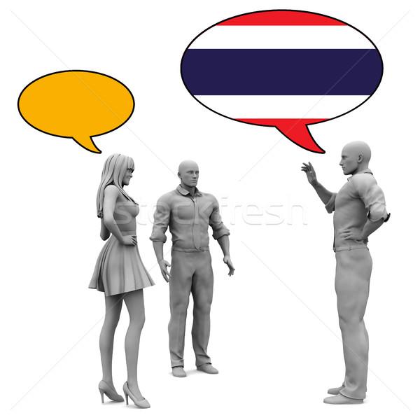 узнать тайский культура язык бизнеса женщины Сток-фото © kentoh